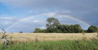 Flot regnbue over vores gård