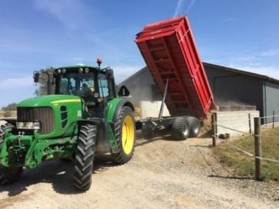 3 Stk. 16 tons Baastrup med rulle presenning + 1 stk ældre omlavet lastbil vogn til alt det hårde arbejde